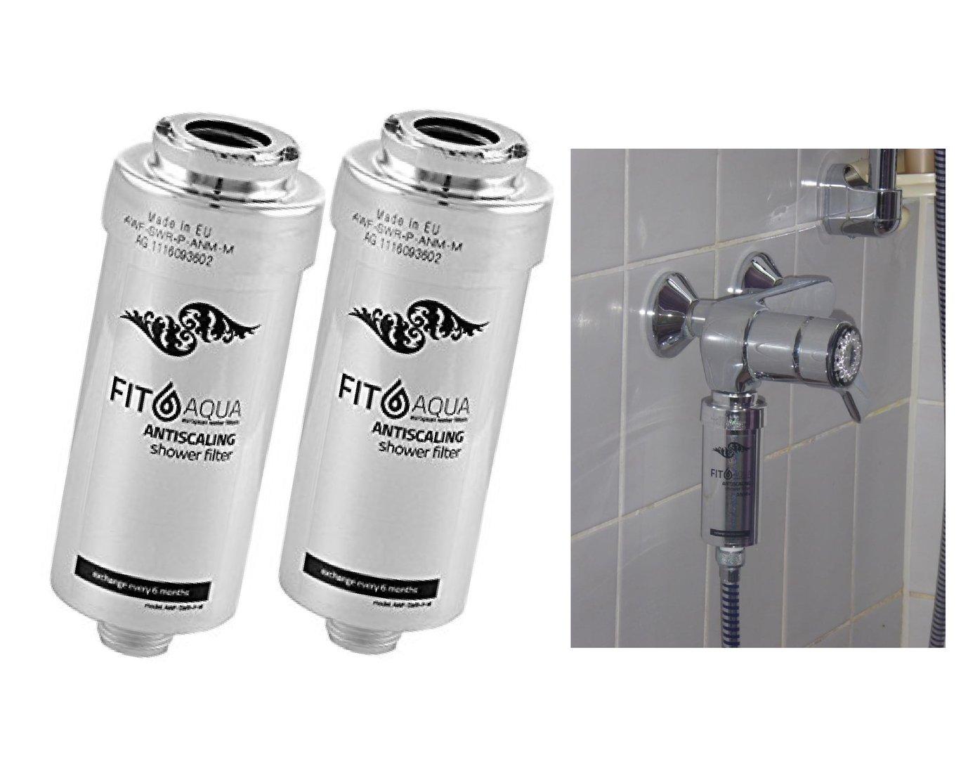 5 x Duschfilter FitAqua Antiscaling Wasserfilter für Dusche gegen Chlor und Kalk