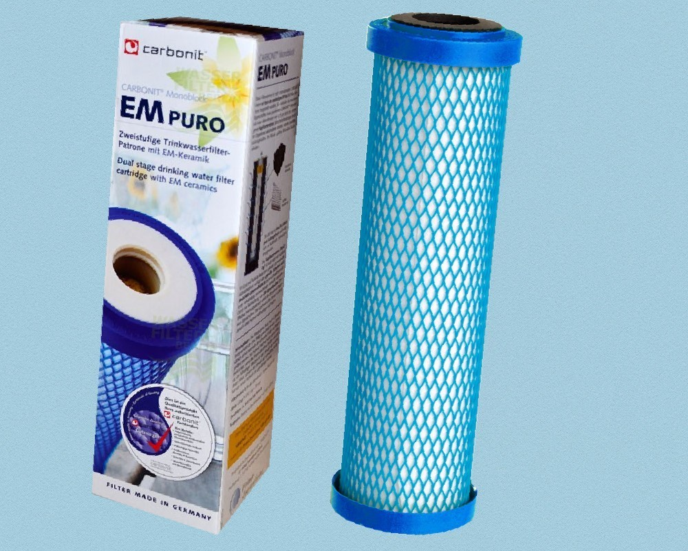 Sanuno 2 x Carbonit Premium Dualis Wasserfilter passend für u.a Vario